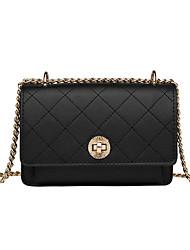 cheap -Women's Bags PU(Polyurethane) Crossbody Bag Solid Color White / Black / Khaki