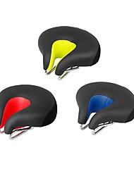 Недорогие -Седло для велосипеда Очень широкий Комфорт Подушка Полый дизайн Кожа PU силикагель Велоспорт Шоссейный велосипед Горный велосипед Красный Зеленый Синий