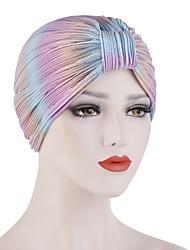 Недорогие -Жен. Классический Широкополая шляпа Полиэстер,Однотонный Все сезоны Цвет радуги Винный Тёмно-синий