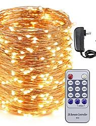 Недорогие -KWB 30 м светодиодный провод провода огни 300 светодиодов звездное освещение и 12 В 3а адаптер питания и пульт дистанционного управления рождественские каникулы украшения