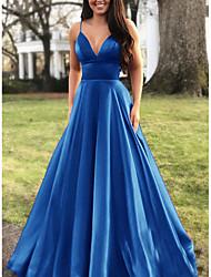 Недорогие -Жен. Большие размеры Элегантный стиль С летящей юбкой Платье - Однотонный, На бретелях На бретелях Макси