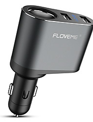 Недорогие -floveme 3.1a двойное быстрое автомобильное зарядное устройство 12v-24v вход 2 порта USB светодиодный цифровой дисплей зарядное устройство USB для iphone samaung google nokia ect. универсальный