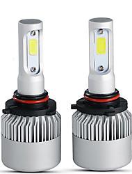 Недорогие -4шт 9005 9006 лампочек s2 светодиодные фары комплект 4000lm / колба 6500k пучок противотуманных фар спрятал белый