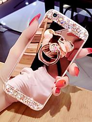 Недорогие -чехол для телефона зеркальная поверхность чехол для телефона с кольцом в форме медведя&подставка для усилителя для iPhone 5/6 / 6p / 7 / 7p / 8 / 8p / x / xs / xr / xs max