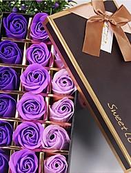 זול -פרחים מלאכותיים 18 ענף קלאסי מסוגנן ורדים פרחים לשולחן