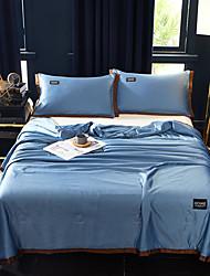 Недорогие -охлаждающий воздухопроницаемый 1 шт. santin шелк хлопок простой одеяло / 2 шт. подушки (2 шт. подушки для двух или одного) лето сплошной цвет