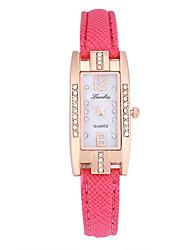 preiswerte -Damen Quartz Uhr Freizeit Modisch Schwarz Weiß Rot PU - Leder Chinesisch Quartz Rote Rosa Rose Rot Niedlich Kreativ Armbanduhren für den Alltag 1 Stück Analog