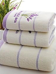 Недорогие -Высшее качество Набор банных полотенец, Однотонный Чистый хлопок Ванная комната 1 pcs