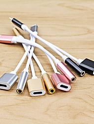 Недорогие -Подсветка Адаптер От 1 до 2 Нержавеющая сталь Адаптер USB-кабеля Назначение iPhone