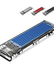 Недорогие -Прозрачный бренд USB3.1 Gen2 Type-C M.2 NVM SSD корпус для Windows Mac больше цвета
