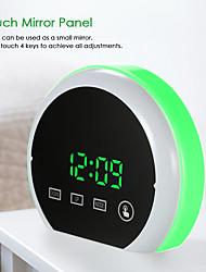 Недорогие -цифровой будильник светодиодный сенсорный зеркало будильник 12h / 24h дисплей регулируемый RGB красочное освещение будильник двойной порт USB