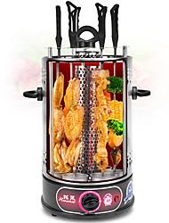 Недорогие -электрический гриль вращающийся вертельный шашлык барбекю бездымный электрический гриль с 6 вилками au plug 220v