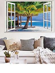Недорогие -пляжная кокосовая пальма пейзаж стены стикеры - слова&ампер цитаты стикеры на стенах персонажей кабинет / кабинет / столовая / кухня