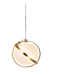 baratos -Circular Lustres Luz Ambiente Galvanizar Metal Vidro Criativo 110-120V / 220-240V