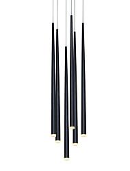 Недорогие -современная люстра подвесной светильник лестничное освещение светодиодные для столовой офис гостиная регулируемый творческий 110-120 В / 220-240 В теплый белый / белый / 6 ламп