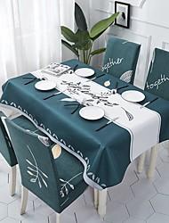 halpa -Nykyaikainen Vapaa-aika Puuvilla polyesterikuitua Neliö Cube Table Cloths Table Linens Raidoitettu Patterned Tulostus Ekologinen Vedenkestävä Pöytäkoristeet