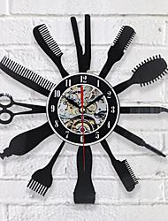 Недорогие -креативные виниловые настенные часы идея подарка для парикмахера салон красоты парикмахерская парикмахерская арт декора часы классный дизайн 12 * 12 (30.5cm30.5cm)