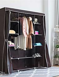 Недорогие -коричнево-серый 60-дюймовый шкаф для спальни шкаф для одежды органайзер для обуви