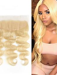 Недорогие -Laflare Бразильские волосы 4X13 Закрытие Волнистый Бесплатный Часть Швейцарское кружево Натуральные волосы Жен. Женский / Удлинитель / Лучшее качество Рождество / Halloween / На каждый день