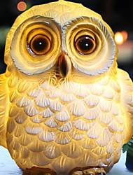 Недорогие -0.8 Вт светодиодный ip65 водонепроницаемый сова форма солнечной энергии лампы пейзаж орнамент мультфильм животных подземный свет сад двор декор