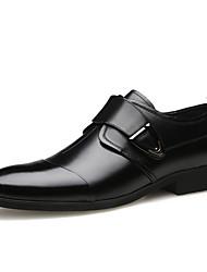 Недорогие -Муж. Официальная обувь Кожа Весна лето Английский Туфли на шнуровке Доказательство износа Черный / Коричневый