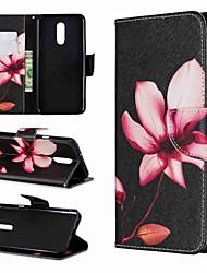 abordables -Funda Para LG LG Stylo 4 / LG Stylo 5 Cartera / Antigolpes / con Soporte Funda de Cuerpo Entero Flor Dura Cuero de PU para LG Stylo 4 / LG Stylo 5 / LG K10 2018