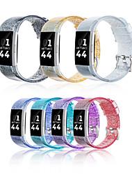 Недорогие -ремешок для часов для fitbit заряд 2 силиконовой лентой блеск женщины браслет мужчины водонепроницаемый ремешок на умные часы