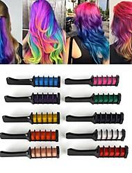 Недорогие -10 цветов мини одноразовые персональный салон использовать временную расческу для волос профессиональные карандаши для окрашивания волос мела инструмент для окрашивания волос