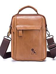 baratos -laoshizi bolsa de couro dos homens saco de ombro único saco de lazer inclinado bolsa de negócios vertical saco de moda bolsa dos homens