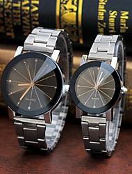 preiswerte -Paar Uhr Stahl Uhren Quartz Legierung Stopuhr Analog Freizeit Modisch Schwarz Kaffee