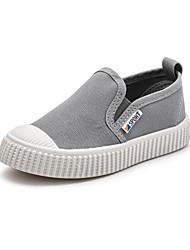 ราคาถูก -เด็กผู้ชาย / เด็กผู้หญิง ผ้าใบ รองเท้าส้นเตี้ยทำมาจากหนังและรองเท้าสวมแบบไม่มีเชือก เด็กวัยหัดเดิน (9m-4ys) / เด็กน้อย (4-7ys) ความสะดวกสบาย สีดำ / สีเทา / สีกากี ฤดูใบไม้ผลิ / ฤดูร้อน