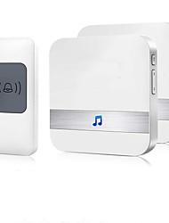 Недорогие -Беспроводной дверной звонок Водонепроницаемый комплект дверного звонка, работающий на высоте более 1000 футов с 2 сменными приемниками 52 мелодии Звук качества CD и светодиодная вспышка