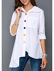 levne -Dámské - Jednobarevné Košile Bílá US14