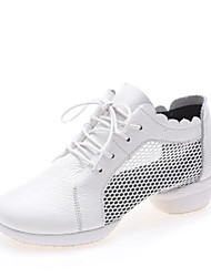 お買い得  -女性用 レザー / メッシュ ダンススニーカー スニーカー 厚いヒール オーダーメイド可 ホワイト / ブラック