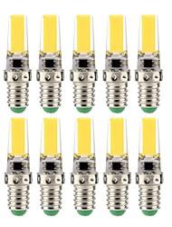 baratos -10pçs 3 W Lâmpadas Espiga 350 lm E14 T 1 Contas LED COB Decorativa Adorável Branco Quente Branco Frio 220 V 110 V