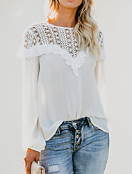 billige -Dame - Ensfarvet Basale Skjorte Hvid US8