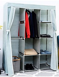 Недорогие -светло-голубой 68-дюймовый портативный шкаф для одежды шкаф для хранения одежды