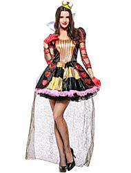 ieftine -Regina inimilor Rochii Costume Cosplay Mascaradă Adulți Pentru femei Cosplay Halloween Crăciun Halloween Carnaval Festival / Sărbătoare Tul Paietă Negru Costume de Carnaval Broderie Vacanță Halloween