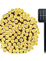 Недорогие -Zdm 1 упак. солнечные гирлянды 72ft 22m 200 светодиодные 8 режимов на солнечных батареях xmas наружное освещение водонепроницаемый звездное рождество сказочные огни для внутренних садов дома свадьба