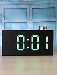 Недорогие -ts-t12 цифровая ручка зерна из дерева светодиодные часы будильник ж / температура с / ж дисплей