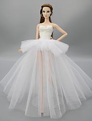 Недорогие -Платье куклы Для Barbie Цветочные ботанический Полиэстер Платье Для Девичий игрушки куклы
