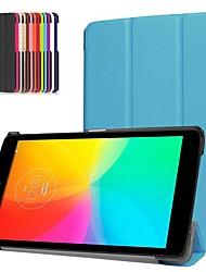 Недорогие -Кейс для Назначение LG LG G Pad III 8.0 V525 Защита от удара / со стендом / Ультратонкий Чехол Однотонный Твердый Кожа PU