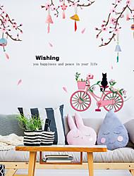 Недорогие -стикеры стены кота моды персикового велосипеда - слова&усиленные цитаты стикеры на стенах персонажей кабинет / кабинет / столовая / кухня
