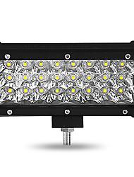 Недорогие -2 шт. 7-дюймовый 72 Вт 3 ряда светодиодные полосы света внедорожный ремонт ремонт бар рабочая лампа