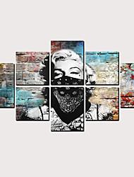 Недорогие -С картинкой Роликовые холсты - Абстракция Люди Классика Modern Репродукции
