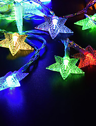 Недорогие -Loende 5 м 50 светодиодов струнные светильники теплый белый / RGB / белый на солнечной энергии рождественский праздник украшение свадьбы украшение партии