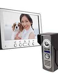 olcso -ultra-vékony 7 hüvelykes vezetékes videó ajtócsengő 815m11 hd villa videó hangszóró kültéri egység éjjellátó eső kinyit funkció