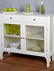 Недорогие -антикварный белый буфет консольный стол со стеклянными дверцами