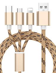 olcso -3 in 1 usb töltő kábel iphone x 8 7 6 5 micro usb típusú c kábelhez