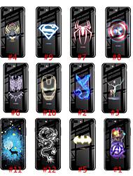 Недорогие -чехол для яблока iphone xs max / iphone 8 plus светящийся в темноте задняя крышка плитка из закаленного стекла / тпу для iphone 7/7 plus / 8/6/6 plus / xr / x / xs